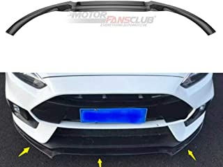 MotorFansClub 3pcs Front Bumper Lip fit for compatible with Ford Focus RS ST 2016 2017 2018 Splitter Trim Protection Spoil...