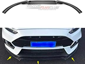 MotorFansClub 3pcs Front Bumper Lip for Ford Focus RS ST 2016 2017 2018 Splitter Trim Protection Spoiler, Carbon Fiber