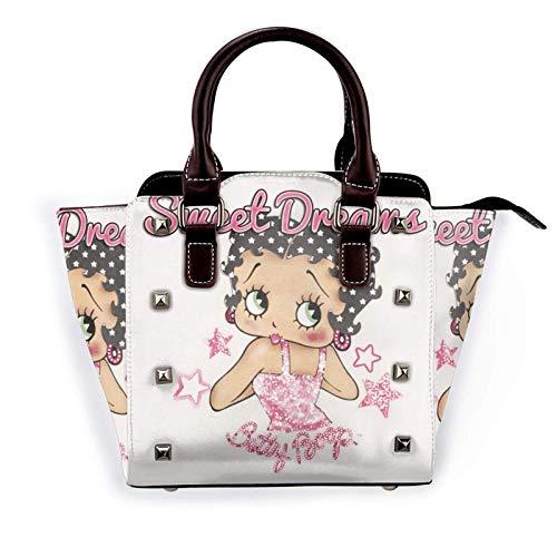 Cute Girl Womens Pu Leather Rivet Small Shoulder Bag Tote Handbag Crossbody Bags Hobo Purse with Adjustable Shoulder Strap