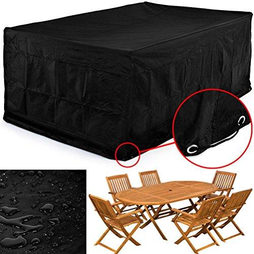 Pixnor 126* 126* 74cm wasserdicht Chaise Lounge Stuhl Bezüge Sofa Bezug, staubfrei, Möbel Cover (schwarz)