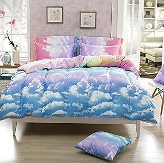 Juwenin bedding Paris Night Eiffel Tower Scene All Season Comforter Sets 2 Matching Pillow Covers (CMF-CYZN, Twin)