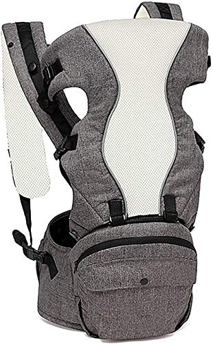 Taburete de Cintura para bebé, Sling para ventilación de Verano, Four Seasons Multifuncional Baby Sling, Rosa,Gris
