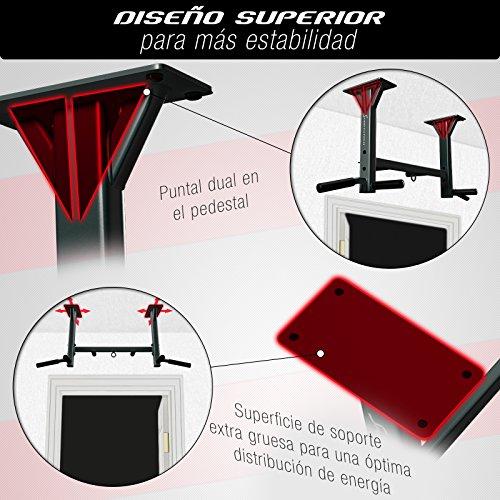 Sportstech Barra de dominadas para Techo 4en1 KS400, 3 Ranuras para TRX & Bolsa de Boxeo, 6 empuñaduras Antideslizantes, Muy Estable, Montaje en Techo, fijación y 8 Resistentes Tacos
