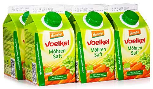Voelkel Bio Möhrensaft - Direktsaft, milchsauer vergoren (6 x 500 ml)