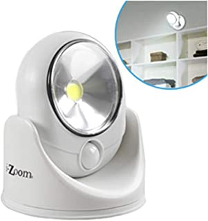 COB Wireless Safety fully-adjustable Light with Light and Motion Activate Sensors, 120 Lumens, Weather resistant, Indoor/Outdoor