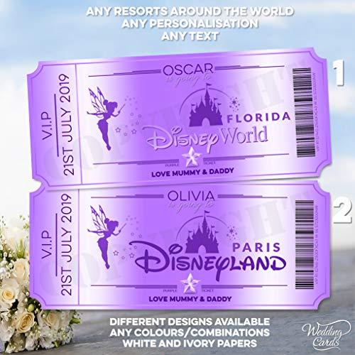 Walt Disney Carte personnalisée California Adventure World Florida Orlando Disney Reveal Paris