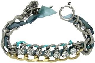 War of Love Ribbon & Chain Bracelet Blue