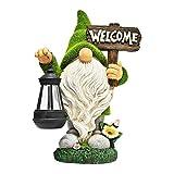 Zwerg Figur Skulptur mit Solarlaterne Gartenfigur Zwerg Basteln