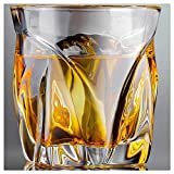 Aegis Luxury Glassware Whiskey Glass Set 2, Lead-Free Crystal Whiskey Glasses Set For Men - Drinking Glasses for Bourbon, Scotch, Rum, Cocktail Glasses, Liquor and Water Glasses - Premium Gift Box.