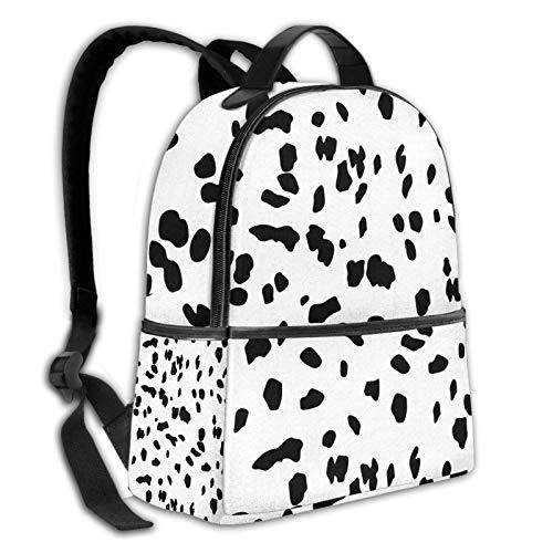 Teery-YY Mochila de ocio Dálmata con estampado de perro, casual, bolsa de hombro, duradera, para senderismo, viajes, escuela, para hombres, mujeres, niñas, adolescentes