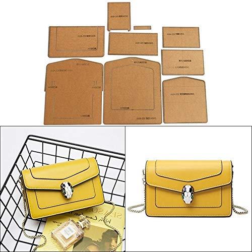 NO LOGO 1pack Leather Craft Damenmode Umhängetasche Tasche Schnittmuster Harte Kraft Paper Stencil Schablone DIY Acrylzeichnung 19cm * 11cm * 6cm