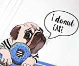 Panel Jersey Mops I donut care - weiß/blau Eigendruck
