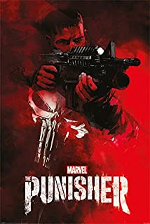 The Punisher - Marvel/Netflix TV Show Poster/Print (Machine Gun/Aim) (Size: 24 inches x 36 inches)