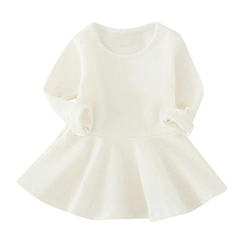 159a2991aacc1 Ouneed® 1-5 Ans Bebe Fille Hiver Pull Robe a Manche Longe Haut Cotton
