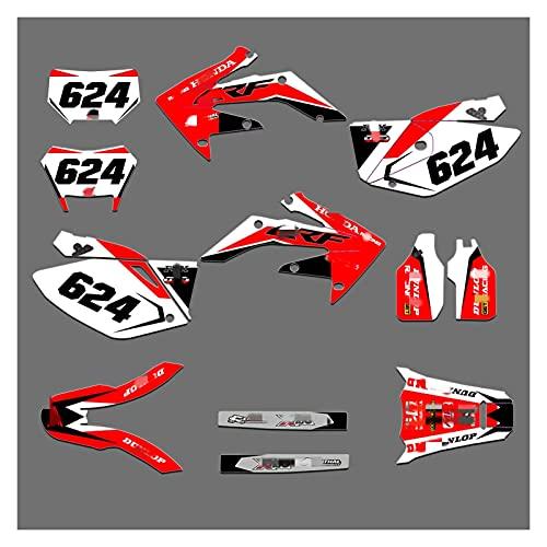 Lhtyouting HM3045-3048 personalizados Adhesivos 3M motocicleta etiquetas Gráficos Gráfico de la etiqueta del kit para HONDA CRF250X 2004 2005 2006 2007 2008 2009 2010 2011 2012 2013 2014 2015 2016 201
