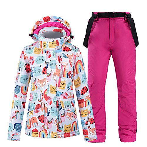 Skipak winter overall warm ski-jack + panty skibroek winddicht waterdicht warme ritssluiting snowboard outdoor