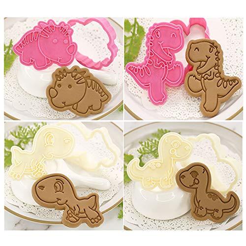 let's make クッキー型 4個セット 恐竜 型抜き ドラゴン 動物 製菓用品ティラノサウルス ステゴサウルス お菓子作り お弁当 贈り物 DIY 手作り