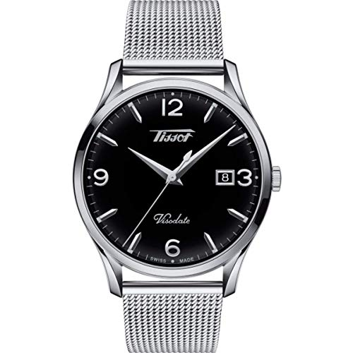 TISSOT Herren Analog Quarz Uhr mit Edelstahl Armband T1164101105700