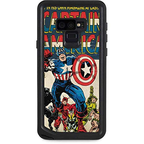 Skinit Waterproof Phone Case for Galaxy Note 9 - Officially Licensed Marvel/Disney Captain America Big Premier Issue Design