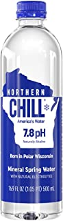 Northern Chill Premium & Naturally Alkaline Water, Naturally Filtered Minerals & Electrolytes, BPA Free Bottles, 16.9oz, 12 pack, This is America's Water