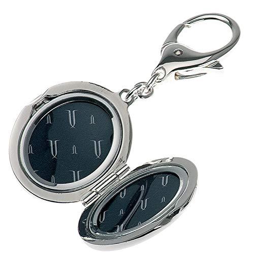 ovaler versilberter klappbarer Schlüsselanhänger Motiv Medaillon 10 x 3 x 2.5 cm