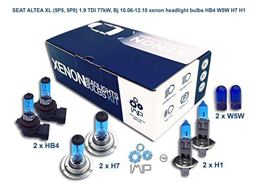 Faros de Xenon brillantes para automóvil | Hágalo usted mismo, Fácil de instalar | Compatible HB4 H7 H1 incluye luces de estacionamiento W5W gratuitas
