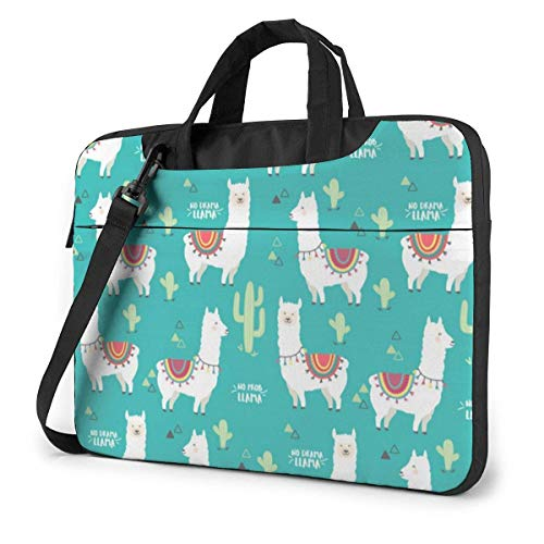 No Prob-Llama Laptop Sleeve Case 14 Inch Computer Tote Bag Shoulder Messenger Briefcase for Business Travel
