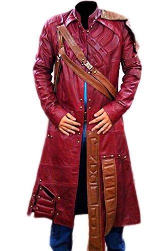 Style Up Ltd. Guardianes de la galaxia Star Lord Peter Quill disfraz de piel real casual Weat