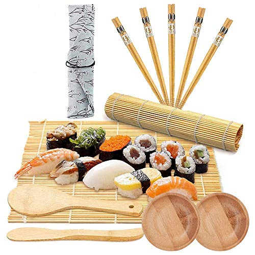 LONGCHAO Kit de Sushi 12 Pcs, Sushi Maker Kit en...