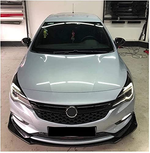 ZQADTU Alerón de Parachoques Delantero de Fibra de Carbono/ABS para Opel Astra K Voltex, Accesorios de Coche, Labio de lámina de Espada, Rendimiento Deportivo, Ropa de protección