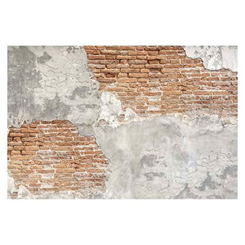 Vliestapete Shabby Backstein Wand, HxB: 255cm x 384cm