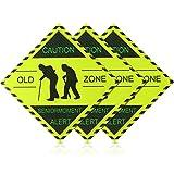 3 Pièces Signe Autocollants de Voiture Magnétique Over the Hill Old Zone Senior Moment Autocollants de Véhicule Magnétique de Voiture Décoration de Fête pour Faveur de Fête