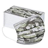 100 StüCk Disposable 3-Lagig Atmungsaktiv Camouflage Cartoon Muster MäDchen Jungen Schulanfang Outdoor