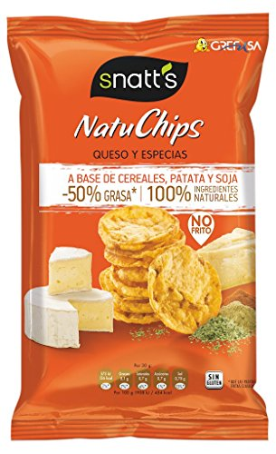 Snatts Grefusa - Natuchips Queso Y Especias 85 g