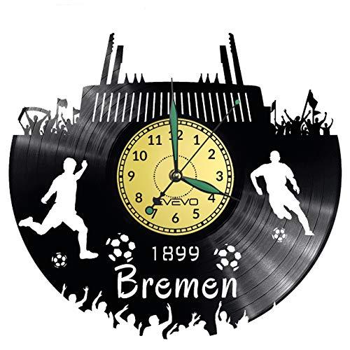 Reloj de pared de Bremen con disco de vinilo, reloj retro, gran reloj, estilo espacial, decoración del hogar, gran regalo para amigo, hombre, vinilo, decoración del hogar, pared inspiradora
