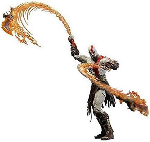 CCJW Anime Charakter Modell Ares 7 Zoll Kratos Messer Feuer Version Bewegliche Modell Statue Geschenk Souvenir Handwerk Urlaub Geschenk Dekoration (18 cm) (Farbe   B)