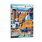 Cagliari Sardinien Reise-Poster, Leinwandbild,