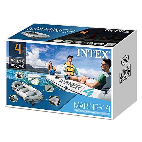 Intex Unisex– Erwachsene Schlauchboot Boot Mariner 4 Set Phthalates Free Inkl. Paddel und Luftpumpe-Professional Series, Grau, 328 x 145 x 48 cm (L x B x H) - 11