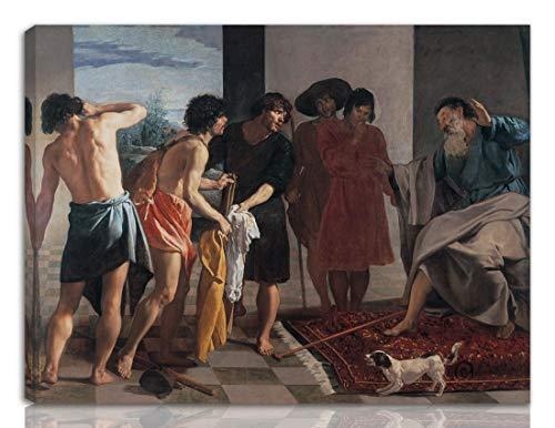 Berkin Arts Diego Velazquez Gedehnt Giclee Auf Leinwand drucken-Berühmte Gemälde Kunst Poster-Reproduktion Wand Dekoration Fertig zum Aufhängen(Josephs blutiger Mantel wurde Jacob WGA gebracht)#NK