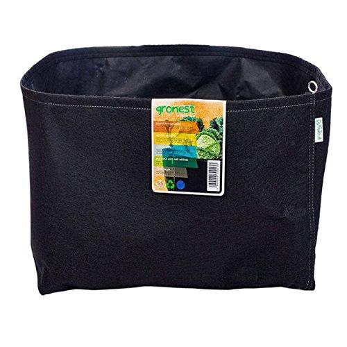Gronest Textil-Blumentopf 55 Liter schwarz