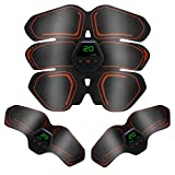Muscle Trainer AB Belt for Men Women Abdominal Training Fitness Wireless Portable 6 Pack ABS Machine for Workout with LCD Display Abdomen Toning Belts 10 Modes 20 Levels Rechargeable Muscle Toner