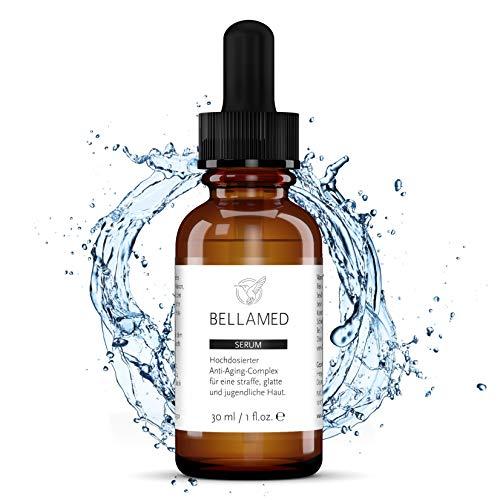 BellaMed - Vitamin C Serum | Hochdosiert | mit Hyaluronsäure + Aloe Vera | Veganes, natürliches Anti-Aging + Anti-Falten Gesichtsserum für straffende Hautpflege