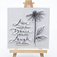 Welcome to Joyful Home 1pc Background Rubber Clear Stamp for Card Making Decoration and Scrapbooking