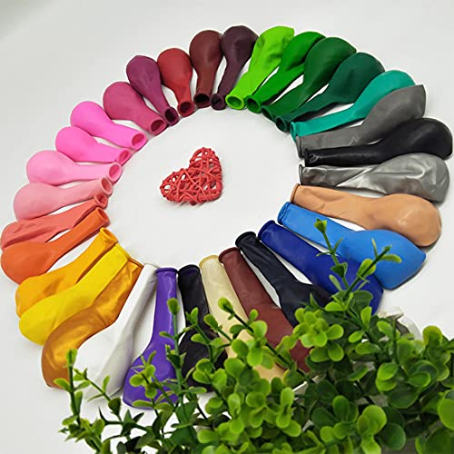 Fnatsscy Globos de Cumpleaños -100 Globos De Colores-Globos de látex Colores-Globos-Helio Globos-Bombona Helio Globos-Arco Para Globos-Globos Para Fiestas