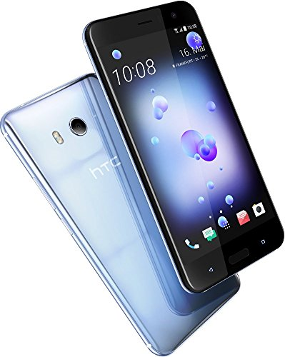 HTC U11 Smartphone (13,97cm (5,5 Zoll), 16 MP Frontkamera, 64GB Speicher, Android) Amazing Silver, mit Alexa-Integration