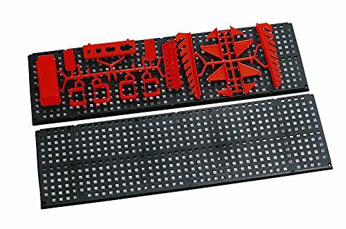 Werkzeugwand mit 19 teiligem Werkzeugbefestigungsset, Länge 80 cm x Breite 48 cm – beliebig erweiterbar - 2