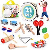 Toddler Educational & Musical Percussion for Kids & Children Instruments Set 21...