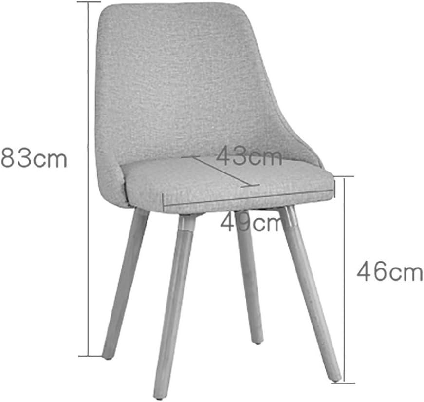 Chaise de salle à manger en bois nordique, chaise d'ordinateur créatif bureau minimaliste moderne tabouret dos chaise de loisirs pour adultes (Couleur : Blanc) Blanc