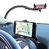 FIEMACH Mini Cooper Handyhalterung, Faltbar Unsichtbar 360°Drehung Autotelefon GPS Halterung für Mini Cooper R55 R56 R57 R60 R61 (Schwarz)