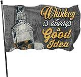 Viplili Flagge/Fahne, Whiskey is A Good Idea Flag: 3x5 FT Flag Tough The Strongest, Longest Lasting Flag National Flag Outdoor Flags